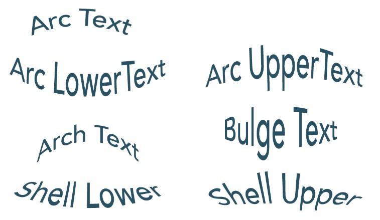 Photoshop Warp Text Examples