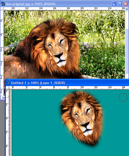 Cloning from one image to another