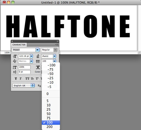 1- Add Font & Text Tracking In Photoshop