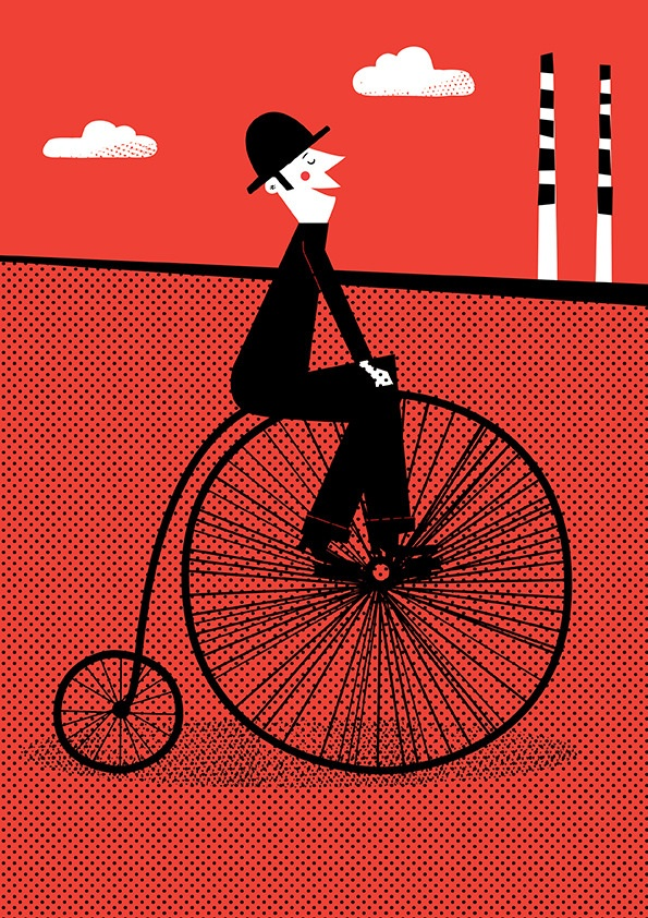 Nice day for a cycle illustration by Jennifer Farley