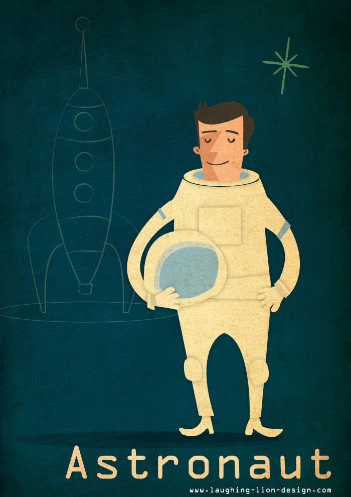 astronaut illustrated by Jennifer Farley