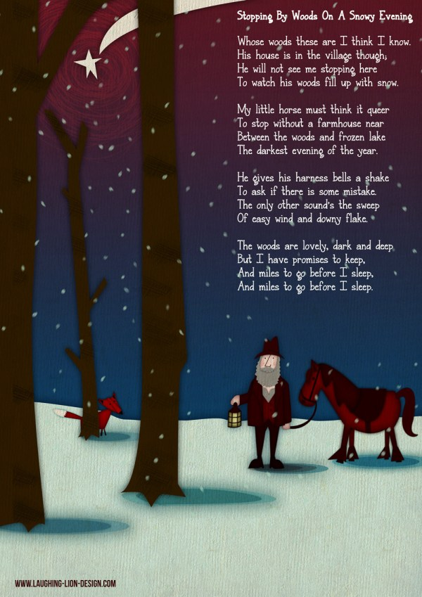 Snowy Forest - Robert Frost -  Illustrated by Jennifer Farley