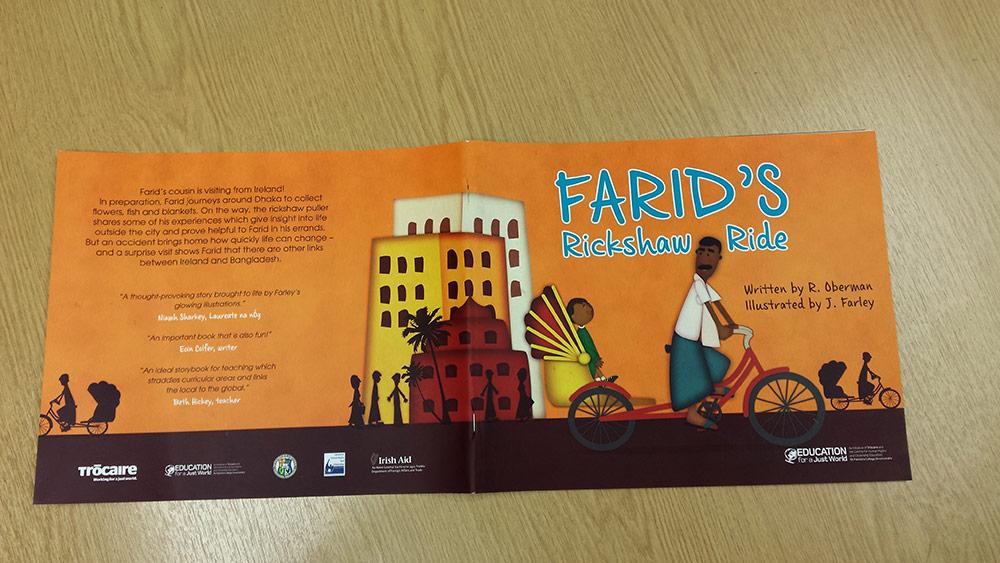 Farid's Rickshaw Ride Picturebook illustrated by Jennifer Farley
