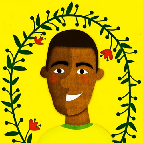 Young Pele Illustration