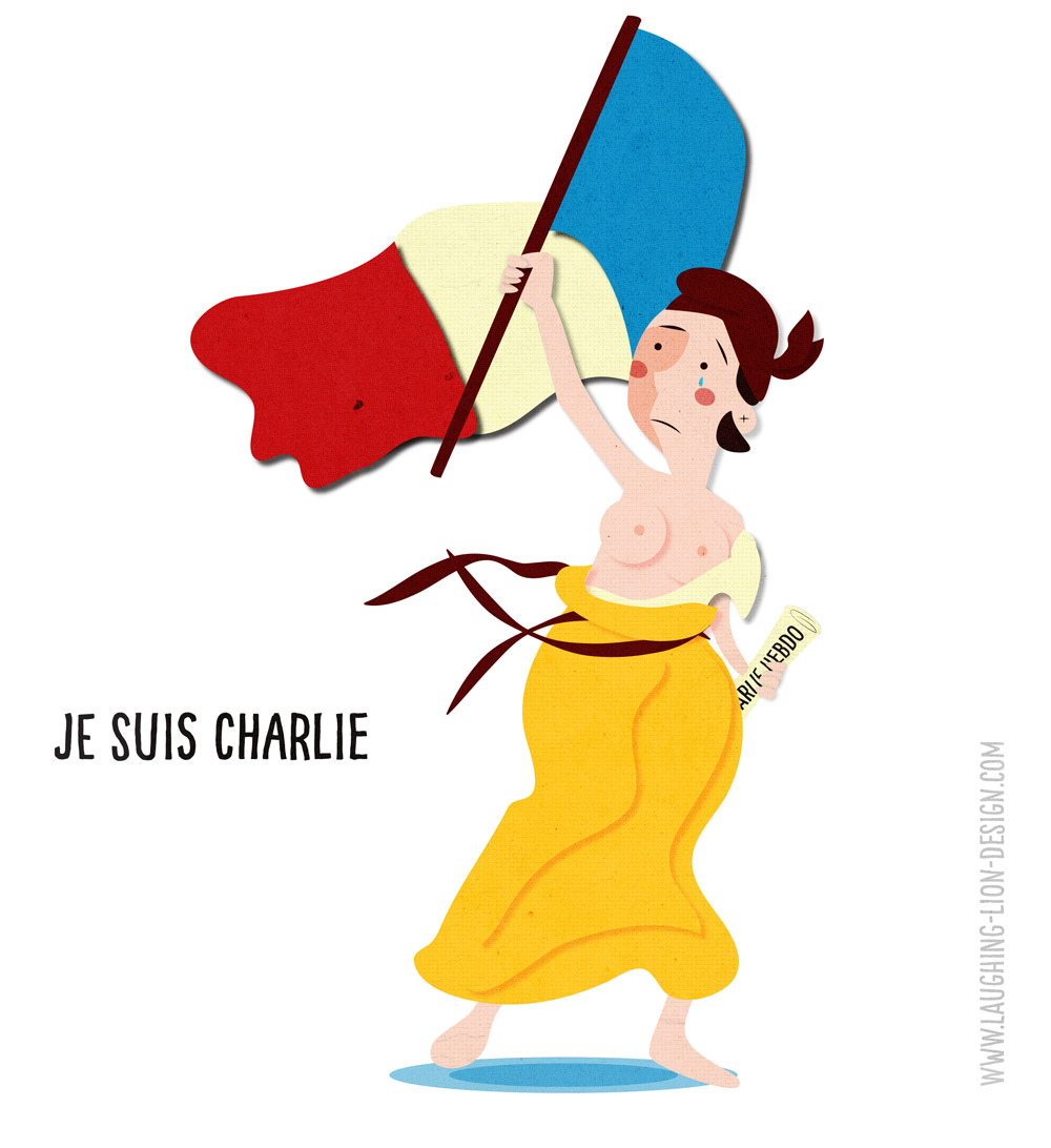 Je Suis Charlie Illustration by Jennifer Farley