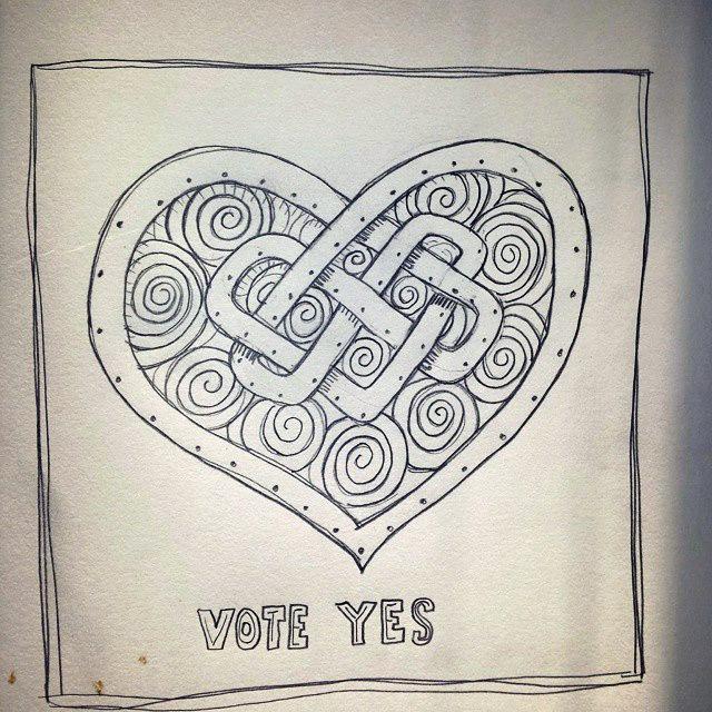 Yes-Heart Sketch Jennifer Farley