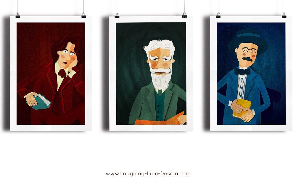 Irish Writers Illustrated by Jennifer Farley