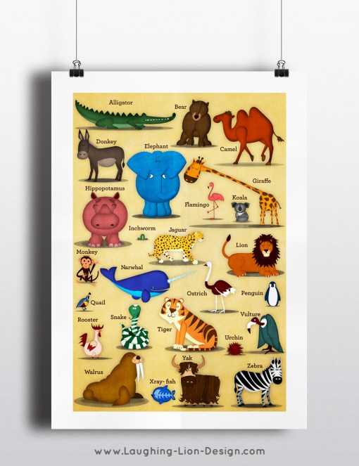 ABC Animal Print illustrated by Jennifer Farley
