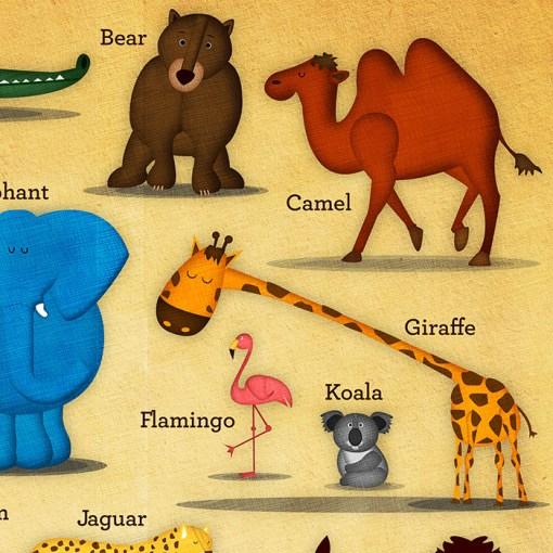 Animal-ABC-Poster-Closeup