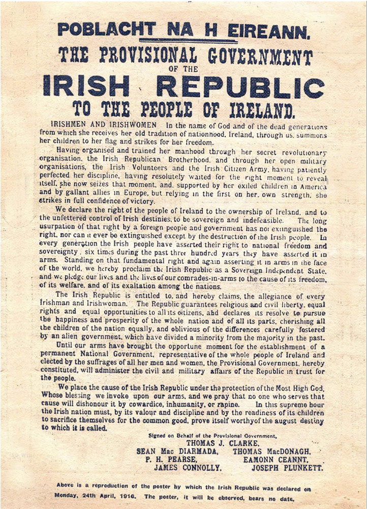 Irish-Proclamation