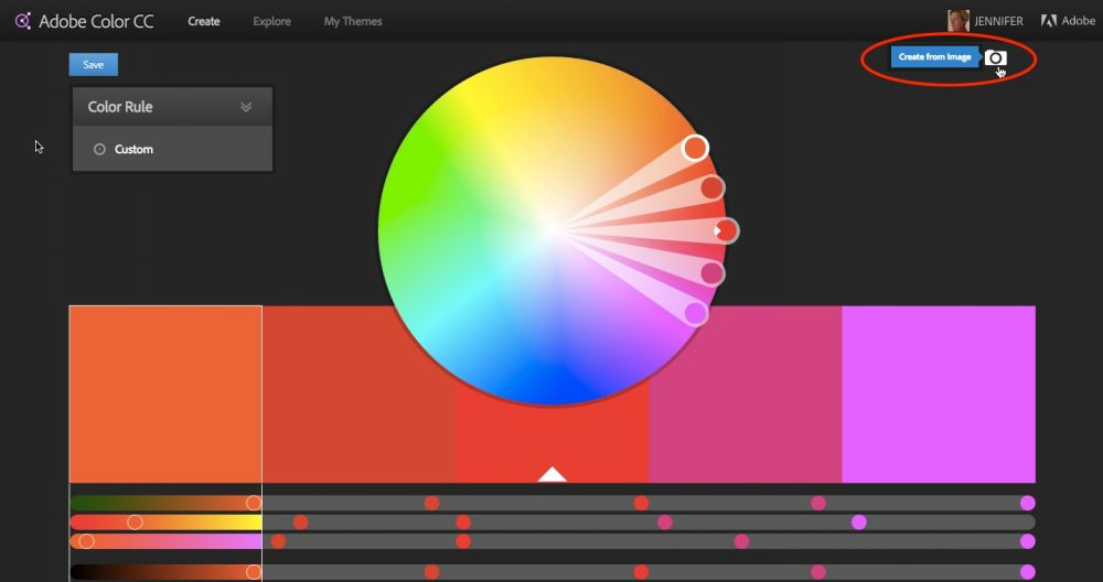 Create Colour Scheme From Image
