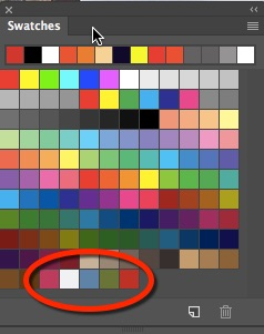 Swatches Panel With New Colour Theme