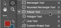 1 - Select The Elliptical Shape Tool Photoshop