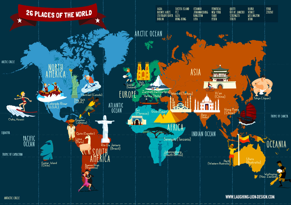 Map of the world by Jennifer Farley
