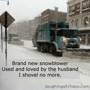 snowblower haiku
