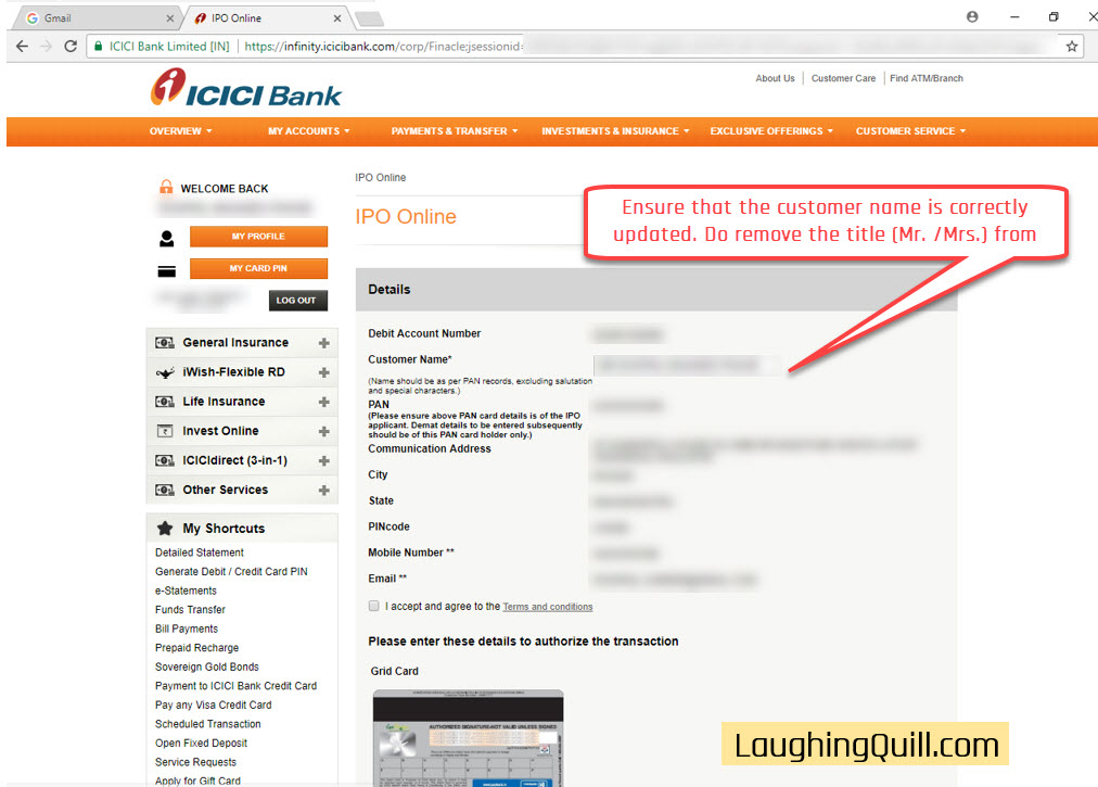 How to apply for IPO via ICICI Bank NetBanking (ASBA)-05
