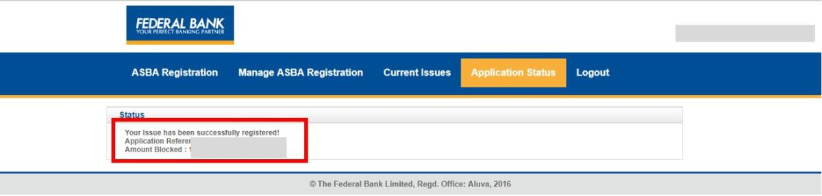 How to apply for IPO via Federal Bank NetBanking (ASBA)-12