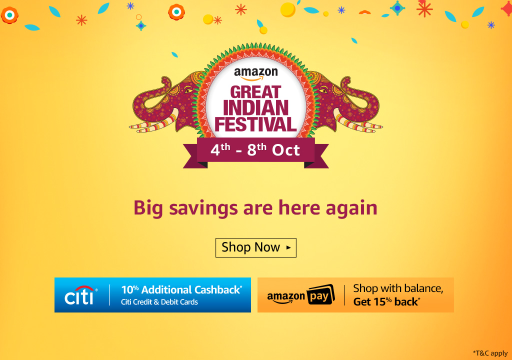 Amazon Great Indian Festival October 2017