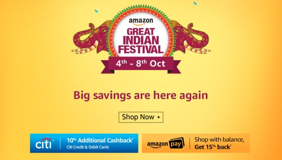 Amazon Great Indian Festival [04-08 October 2017]