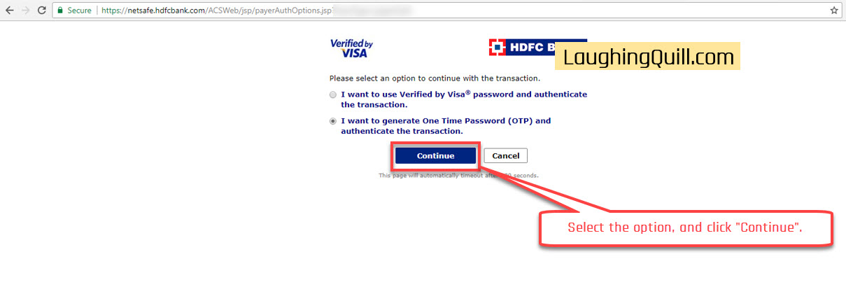 "Pay MSEB Electricity Bills Online- Step 12. Click the ""Continue"" button."