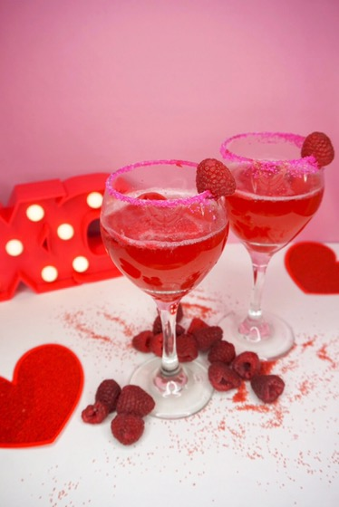 Festive Valentine's Day Cocktail
