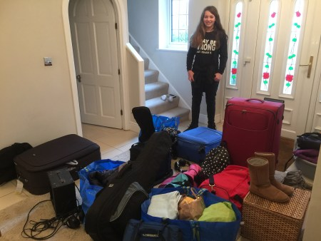 homeschooling kids with overexcitabilities - luggage to go on vacation