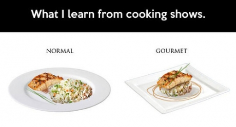 What I learn from cooking shows