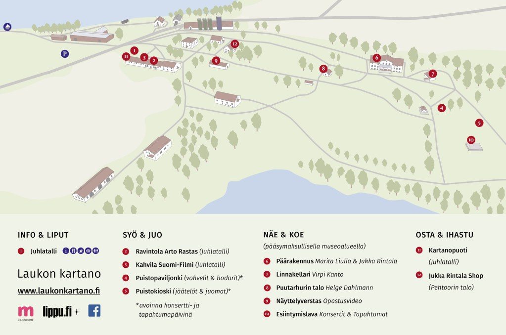 Laukon kartano infokartta