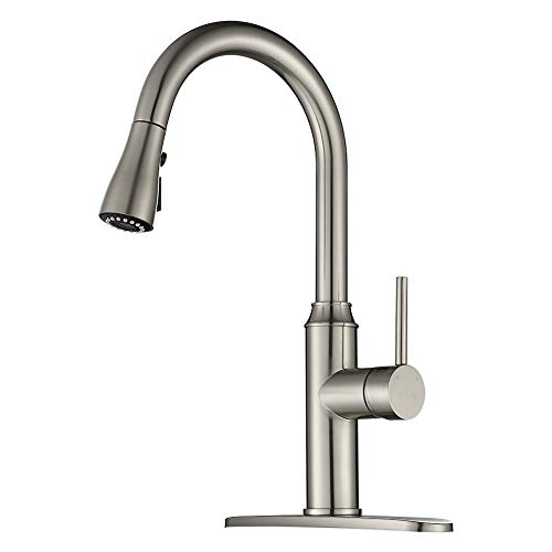 Commercial Kitchen Faucet Oil Rubbed Bronze Delle Rosa Modern Single Handle High Arch Spring Pre-rinse Farm Kitchen Sink Faucets