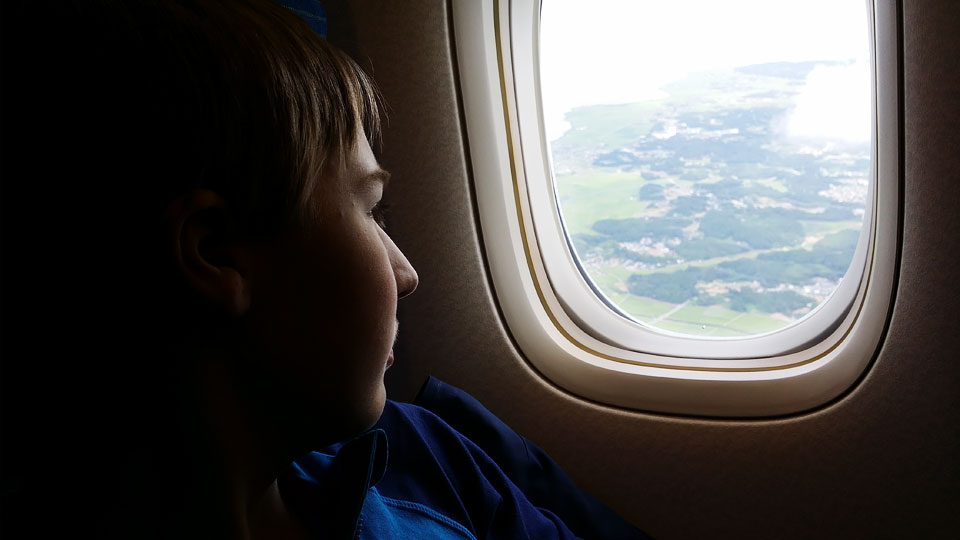 Josiah reflecting on the experience of the past two weeks as we approach Tokyo en route to the US and our final leg home to Alberta.