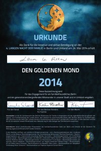 Urkunde Goldener Mond