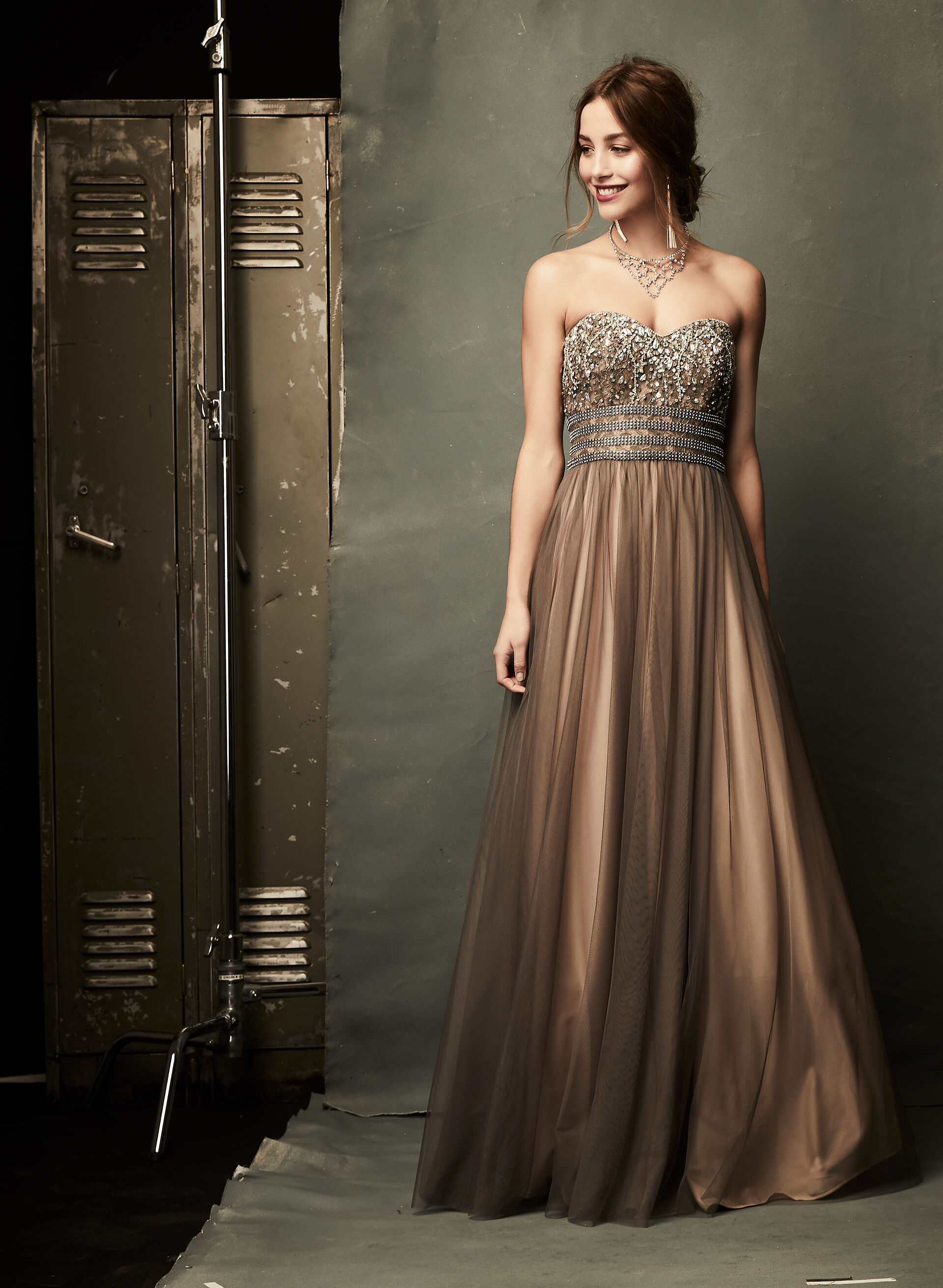 Strapless Beaded Ball Gown   Laura