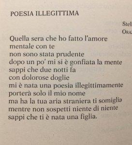 Perché Poesie Illegittime Laura Baici
