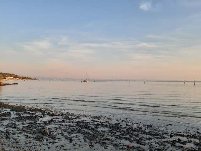Tramonto al Villaggio del Pescatore, foce del Timavo