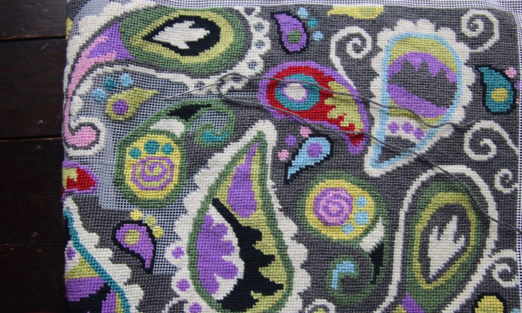 Paisley pillow cover.