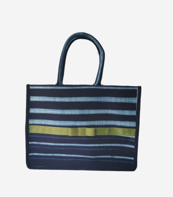 Small Indigo tote bag Lime