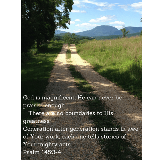 God is magnificent; he can never be