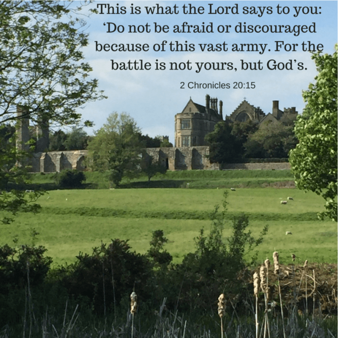 This is what the Lord says to you_ 'Do not be afraid or discouraged because of this vast army. For the battle is not yours, but God's.