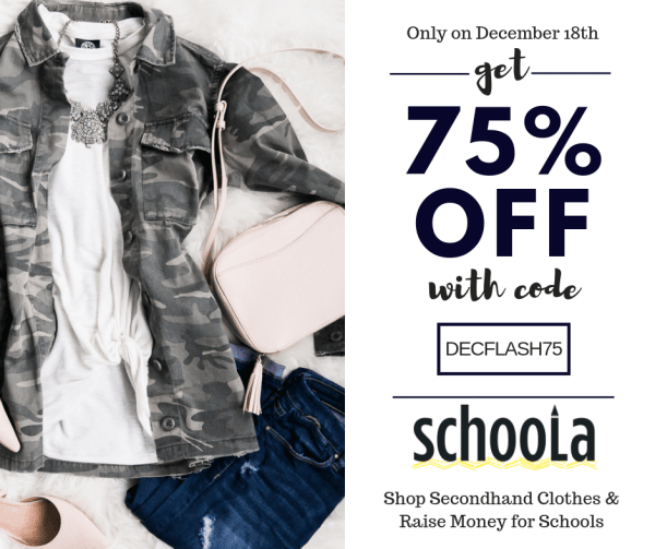 Schoola Flash Sale Sparkle and Shine December Discount Code