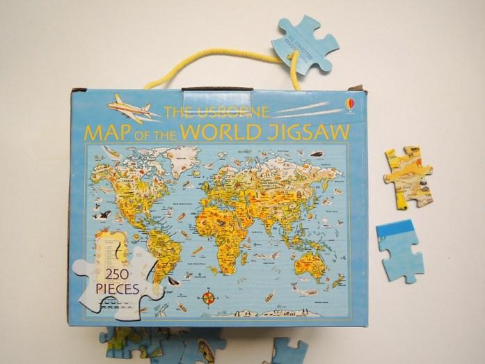 puzzle harta lumii carton