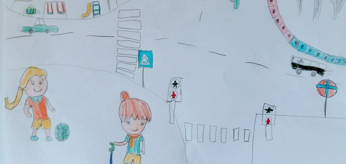 Desen de la lecţiile noastre de educaţie rutieră