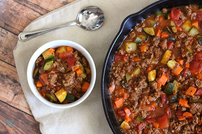 Image result for chili no beans with zucchini and green peppers