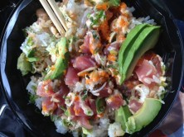 Mi comida favorita.... atún, arroz y aguacate... yumi!!!