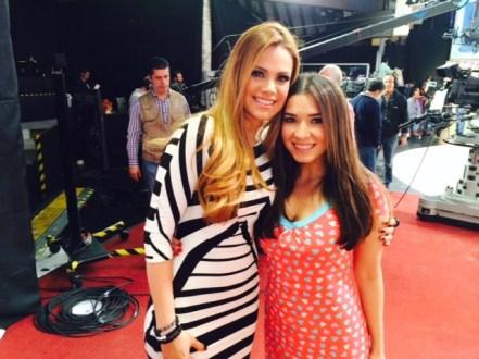 Con la guapísima de Luz Elena