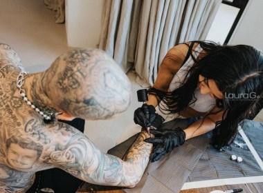 kourtney kardashian le tatua