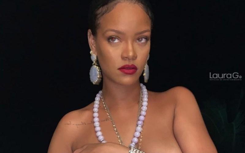 Rihanna posó con transparencias