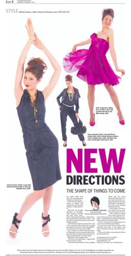 Laüra Hollick modelling for Milli's fashion boutique in The Hamilton Spectator.