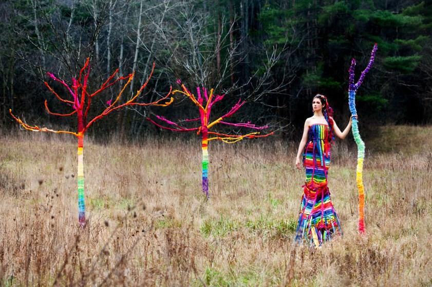 Laüra Hollick with Rainbow Trees