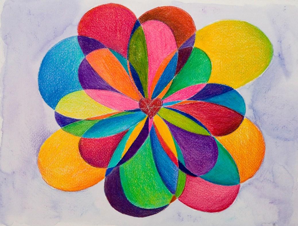 Laüra Hollick's Rainbow Heart Art