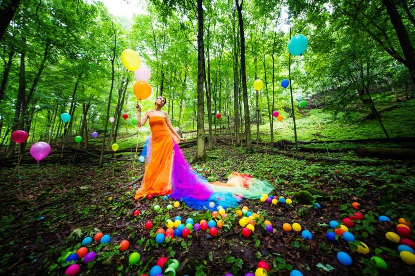 Laüra Hollick Rainbow Balloons